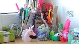 Мой рабочий стол + как я храню материалы для творчества