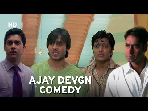 Ajay Devgn 'Serious Cop' | Vivek Oberoi | Aftab | Ritiesh Deshmukh | Hindi Comedy Movie