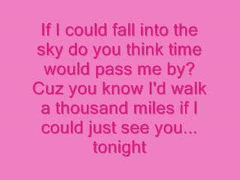 Vanessa Carlton-A Thousand Miles Lyrics