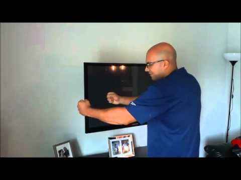 How To Move A Wall Mounted TV On A Swivel Mount