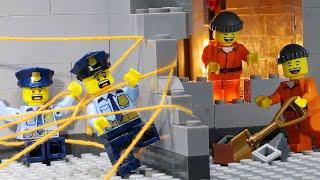 Lego City Prison Break: Amazing Police Trap From Thread (Lego Stop Motion)