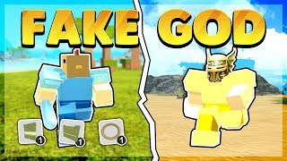 God Tribe vs Fake Crystal Player *PvP* (Roblox Booga Booga)