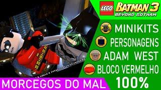 LEGO Batman 3 #27 FASE 2 MORCEGOS DO MAL 100% MINIKITS PERSONAGENS ADAM WEST