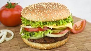 Смотреть онлайн Делаем гамбургер как псих