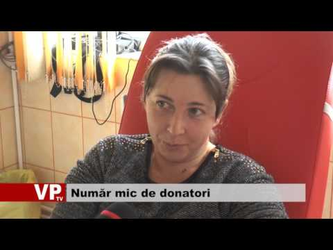 Număr mic de donatori