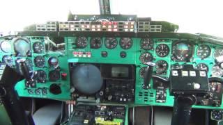 Работа индикаторов в кабине Ту-144 (77106 Монино)