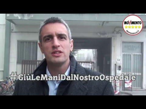 Jacopo Berti contro il depotenziamento dell'ospedale di Dolo
