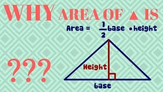 WHY AREA OF TRIANGLE IS 1/2(BASE X HEIGHT) ?