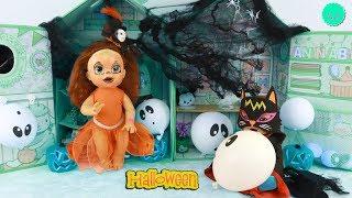 Sara y Luke celebran HALLOWEEN decorando su habitación de bebés y con Maquillaje infantil