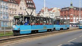 preview picture of video 'Trams in Wrocław Poland, Part I (Tramwaje we Wrocławiu)'