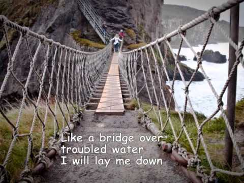 bridge over troubled water susan boyle lyrics