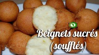 Recette Beignets sucrés (beignets soufflés)