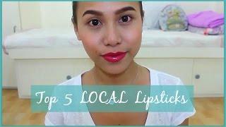 My Top 5 Local Lipsticks   All Under 300php   rhaze
