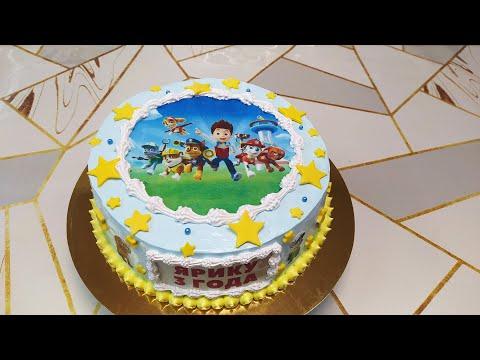 Как сделать торт с героями мультфильма Щенячий патруль