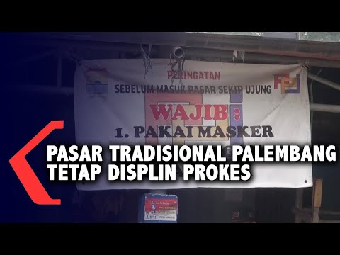 pasar tradisional palembang tetap disiplin prokes