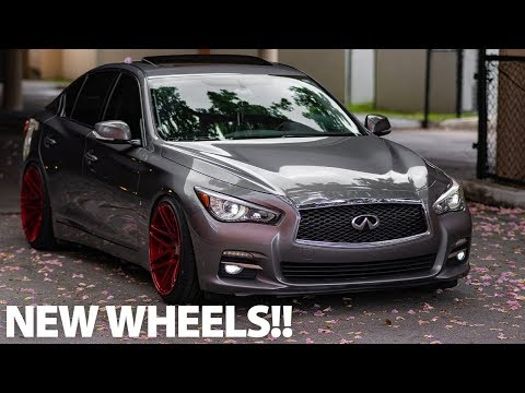 NEW WHEELS FOR THE Q50!! - Forgester F14 Super Deep Concave