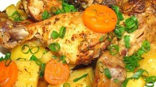 Вкусно - КУРИНЫЕ НОЖКИ с Картошкой в Рукаве #КУРИЦА Запеченная в Духовке #РЕЦЕПТ