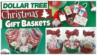 DOLLAR TREE Christmas Gift Basket Ideas | BEST TIPS + Budget Friendly