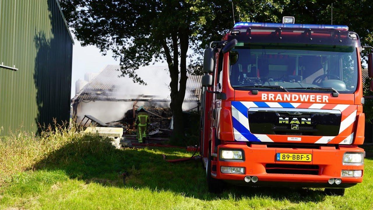 Grote brand in stal door hooibroei – Zeijerlaar Zeijen