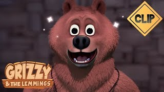 Bébé Grizzy découvre la pâte à tartiner - Grizzy et les Lemmings