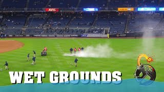 Yankee game delayed wet grounds 2019