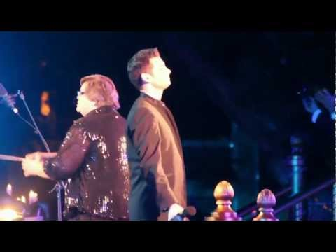 Drew Tablak sings Silent Night at Disneyland's Candlelight Processional 2012