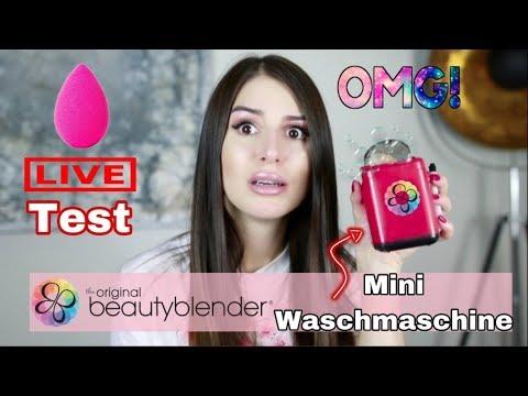 Beautyblender Mini Waschmaschine 🛁  im LIVE TEST l In 2 Min sofort wie neu?!