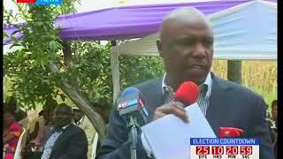 Baringo senator Gideon Moi assures President Uhuru Kenyatta of KANU's backing in fresh polls