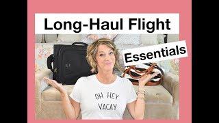 Travel - Long Haul Flight Essentials (Compression Leggings, Neck Pillow and More)