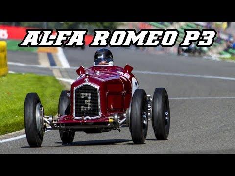 1934 Alfa Romeo P3 - supercharged inline-8 Grand Prix car