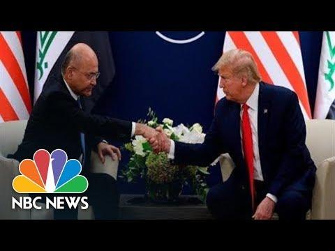 Watch live: Trump meets Iraq president during World Economic Forum