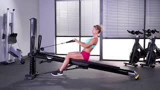 Biceps Curl (Reverse Grip, Seated Towards Tower)