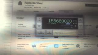 SDR using Generic RTL2832U+R820T on Chromebook