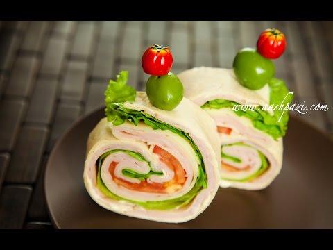 Video Turkey Ham Wrap (Sandwich) Recipe