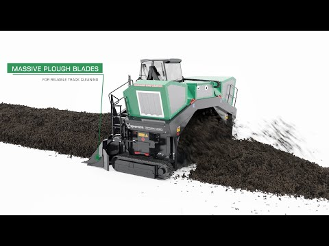 Komptech Topturn X5000 Compost Windrow Turner - Animated Overview