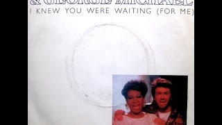 Aretha Franklin - I Knew You Were Waiting (For Me) / (Instrumental) - 7' UK - 1987