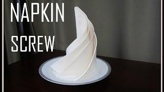 Napkins Folding: Screw Napkin