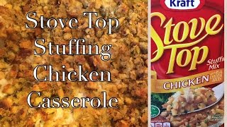 Stove Top Stuffing Chicken Bake Casserole | Kraft + Campbell's Soup Recipe | The Green Notebook