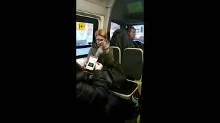 Неадекватная пассажирка в СПБ