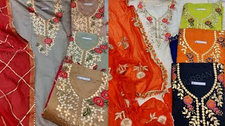कम रेट में फैंसी सूट ladies suit market dupatta work partywear suit urbanhill