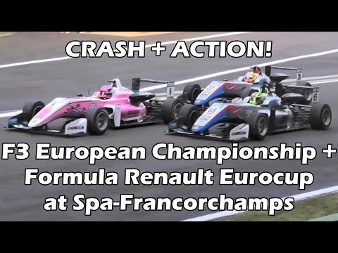 CRASH + ACTION! F3 European Championship + Formula Renault Eurocup at Spa-Francorchamps 2018