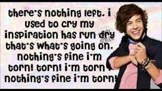 one direction x factor torn lyrics - TH-Clip