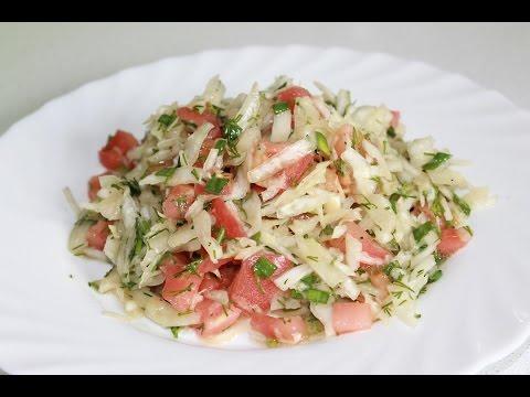 Весенний витаминный салат из капусты,просто и вкусно
