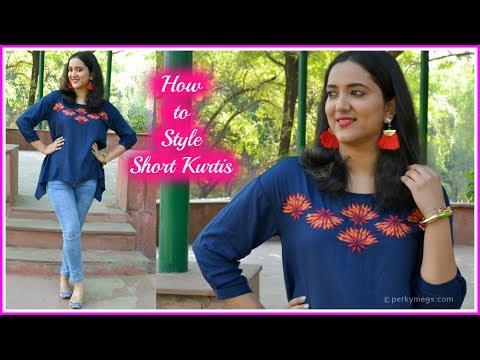 4 Ways to Style Short Kurtis   Indian Ethnic Wear   Perkymegs