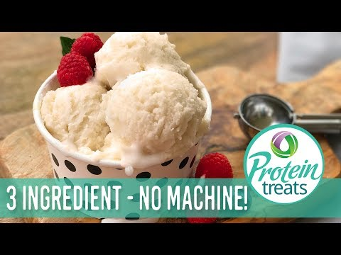 Video Sugar-free Ice Cream Recipe (High Protein & Healthy) Protein Treats by Nutracelle