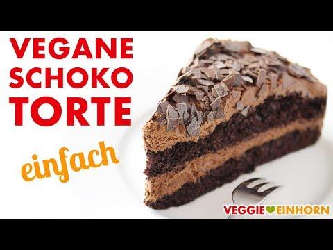 Einfache Vegane Schokotorte | Schokoladentorte backen | Veganes Schoko Torten Rezept