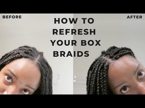 How to Refresh Box Braids | 4C/4B Natural Hair