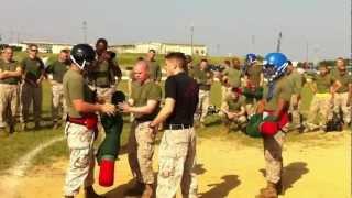 USMC Pugil Sticks half second kill