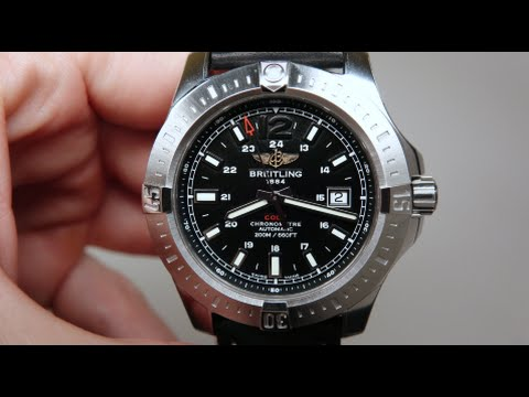 BREITLING COLT AUTOMATIC MEN'S WATCH REVIEW MODEL: A1738811/BD44-435X