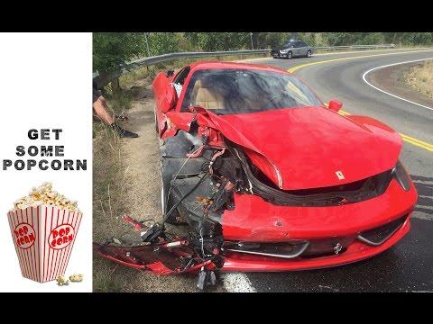 Ferrari 458 Italia ja kallis päiväajelu mutkaisella tiellä